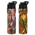 """Бутылка для воды """"Листья"""", 750 мл, спортивная, микс, 8х25 см"""