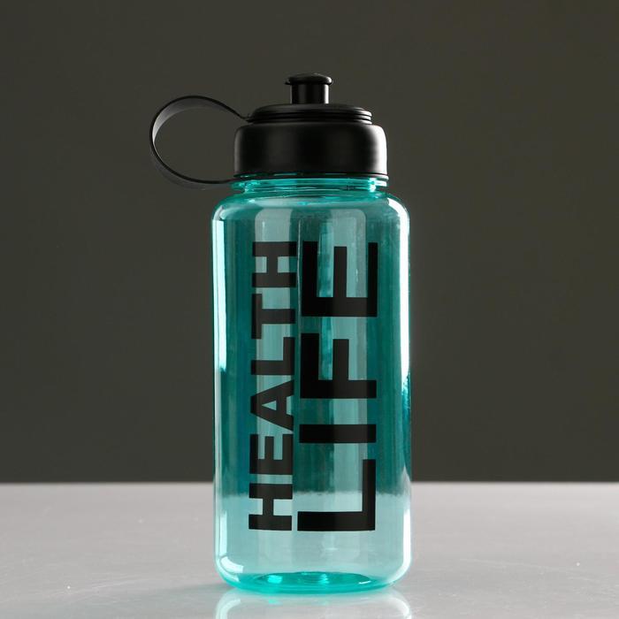 Бутылка для воды 1150 мл Health life, спортивная, поильник, микс, 9х23 см - фото 797959675