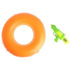 """Надувные игрушки """"Улыбайся!"""", набор: спасательный круг, водный пистолет"""