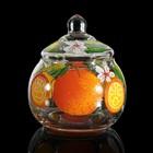 """Шкатулка стекло ларчик """"Шар. Апельсин"""" 11х10х10 см"""