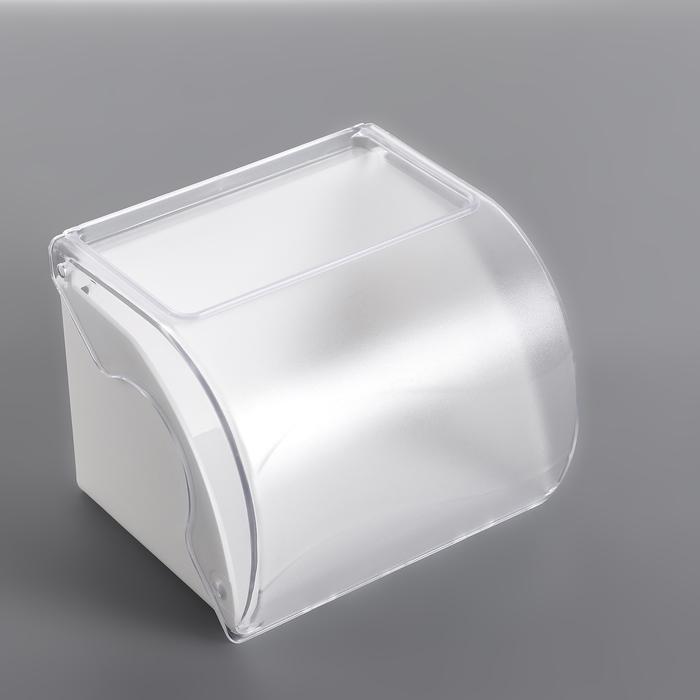 Держатель для туалетной бумаги с полочкой, цвет белый, МИКС