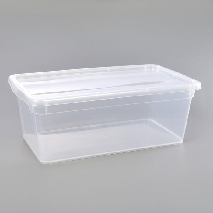Контейнер для хранения с крышкой 33×19×12 см, цвет прозрачный - фото 308334506