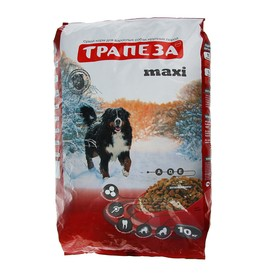 """Сухой корм """"Трапеза"""" МАКСИ для взрослых собак крупных пород, 10 кг"""
