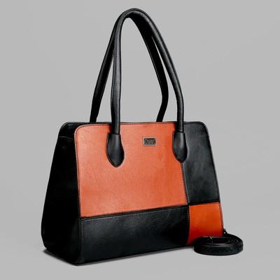 Сумка жен L-8877, 33*10*25, отд с перег на молнии, н/карман, длин ремень, черный