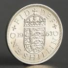"Монета ""1 шиллинг 1963 Великобритания Английский герб"""