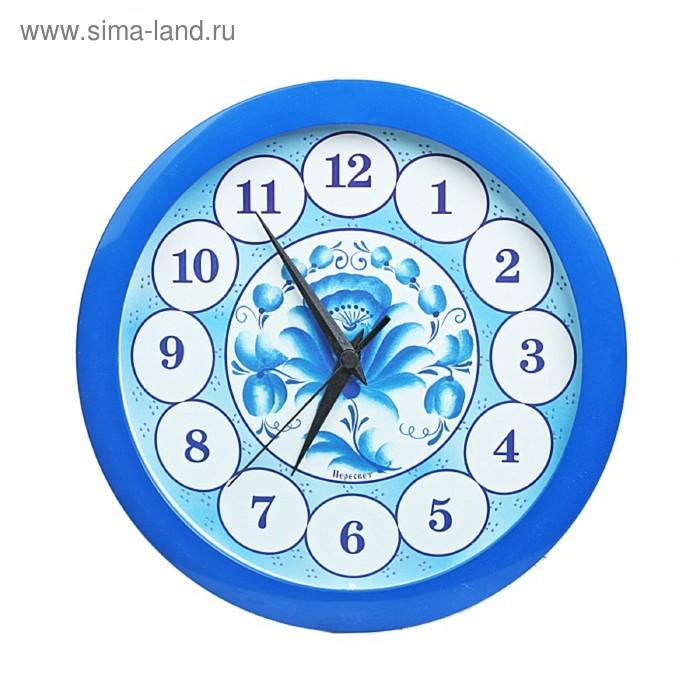 """Часы настенные круглые """"Гжель"""""""