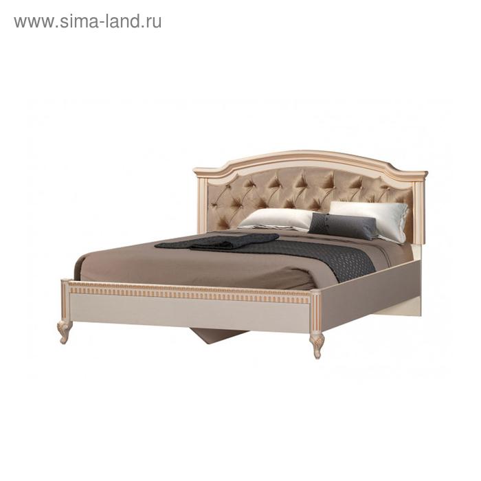 """Кровать без ПМ """"Марлен"""", с основанием, 160х200 см, золотой"""