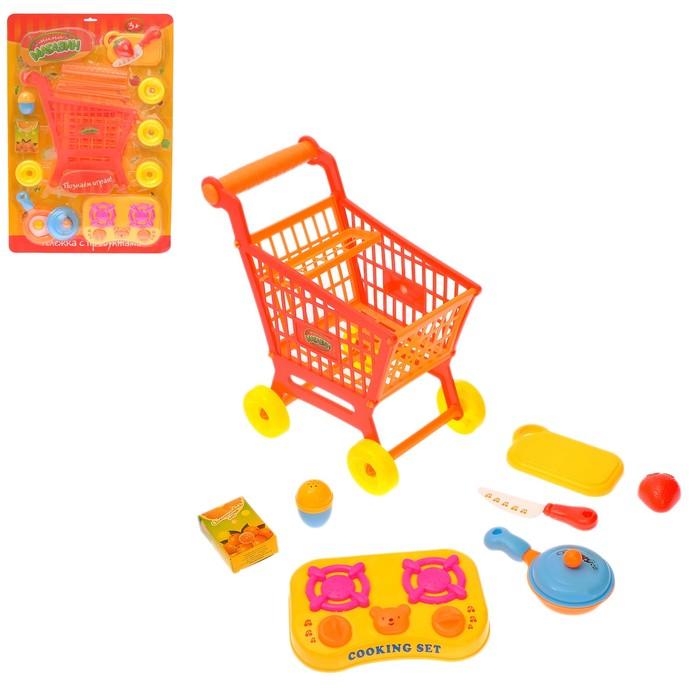 "Игровой набор ""Тележка с продуктами"", разборная, с аксессуарами"
