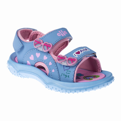 Сандалии для девочек арт. С-64053, цвет голубой, размер 32