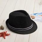 """Шляпа мужская MINAKU """"Деним"""", размер 56-58, цвет чёрный"""