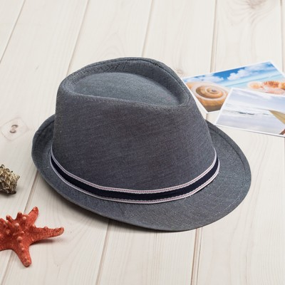 "Шляпа мужская MINAKU ""Деним"", размер 56-58, цвет серый"