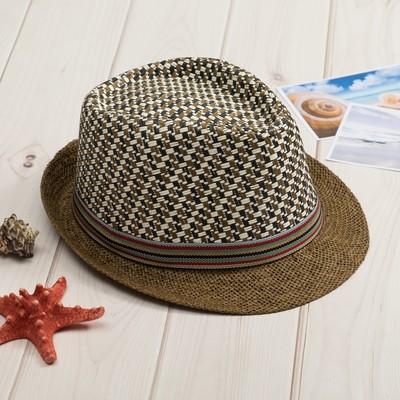 """Шляпа мужская MINAKU """"Соренто"""", размер 56-58, цвет бежевый"""