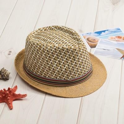 """Шляпа мужская MINAKU """"Соренто"""", размер 56-58, цвет светло-бежевый"""