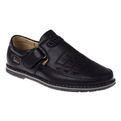 Туфли открытые для школьников мальчиков арт. SB-24437 (чёрный) (р. 31)