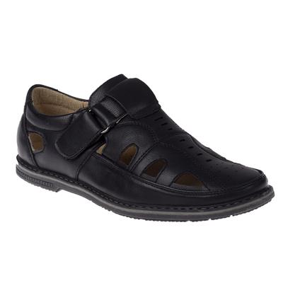 Туфли открытые для школьников мальчиков арт. SB-24439 (чёрный) (р. 32)