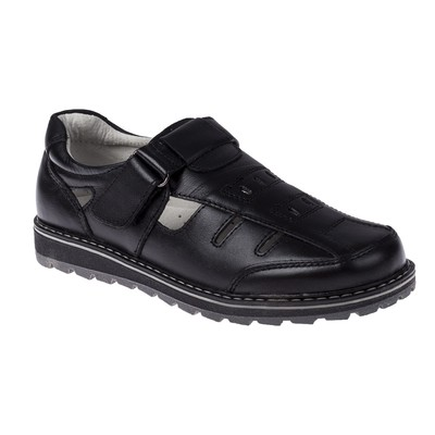 Туфли открытые для школьников мальчиков арт. SB-24444 (чёрный) (р. 32)