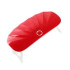 Лампа для гель-лака LuazON LUF-12, UV, 6 Вт, USB, компактная, 6 диодов, красная