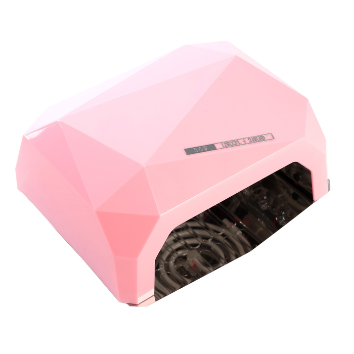 Лампа для гель-лака LuazON LUF-06, UV-LED, 36 Вт, быстрая сушка,розовая