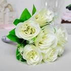 """Букет-дублёр """"Влюблённость"""", розы белые"""