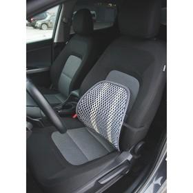 Orthopedic seat cover, wicker, 38 x 39 cm, dark grey