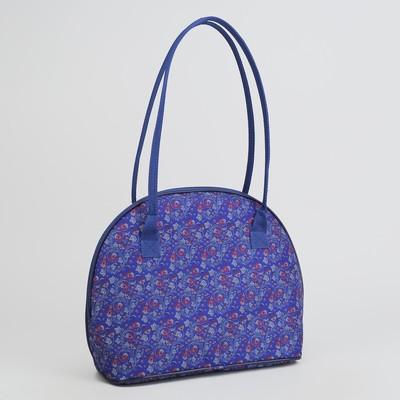 Сумка дорожная, отдел на молнии, наружный карман, цвет синий хохлома 0978deda401