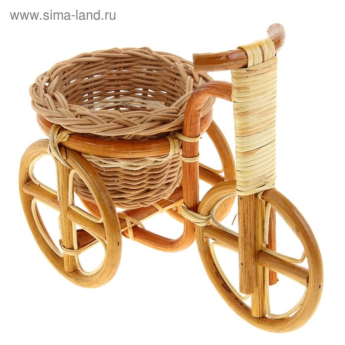 """Цветочница """"Велосипед"""" ротанг"""