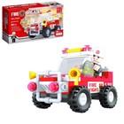 Конструктор Пожарная бригада «Джип», 58 деталей - фото 640415