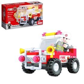 Конструктор Пожарная бригада «Джип», 58 деталей