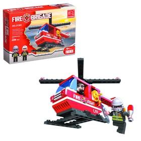 Конструктор Пожарная бригада «Вертолёт», 105 деталей