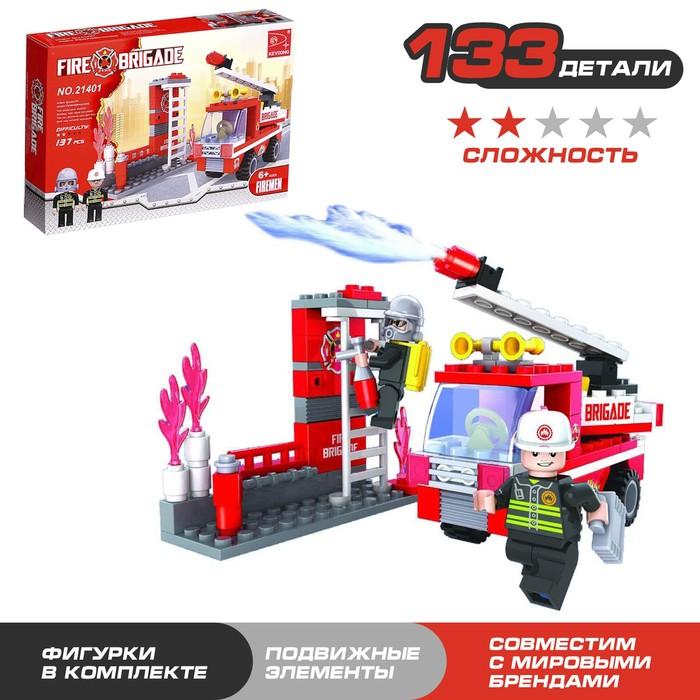 Конструктор «Пожарная бригада», 133 детали - фото 76299487