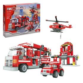 Конструктор Пожарная бригада «Огнеборцы», 697 деталей