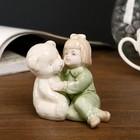 """Souvenir """"the Girl in green pajamas with a bear"""" 8,5х9х6,5 cm"""