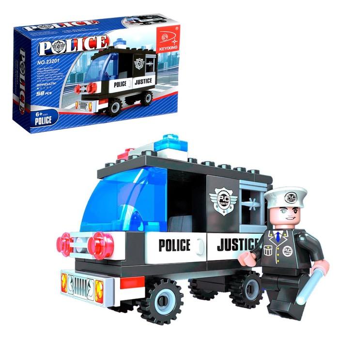Конструктор «Полиция», 58 деталей - фото 106526011