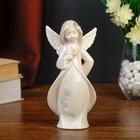 """Сувенир """"Ангел-девочка в розовой накидке с цветами"""" 17,5х8,5х5,5 см"""
