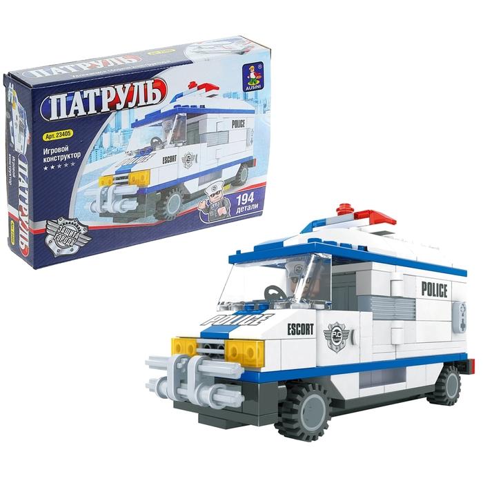 """Конструктор Патруль """"Полицейский автобус"""", 194 детали"""