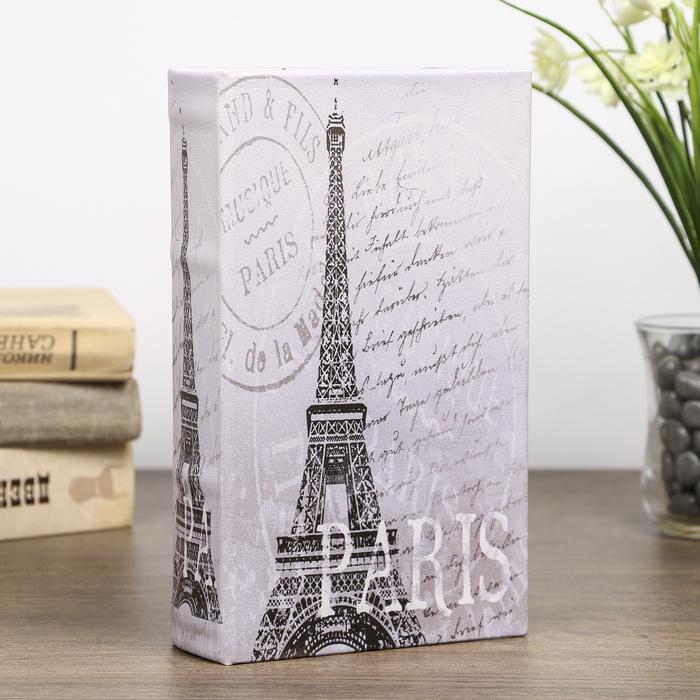 """Сейф-книга дерево """"Эйфелева башня. Париж"""" кожзам 21х13х5 см"""