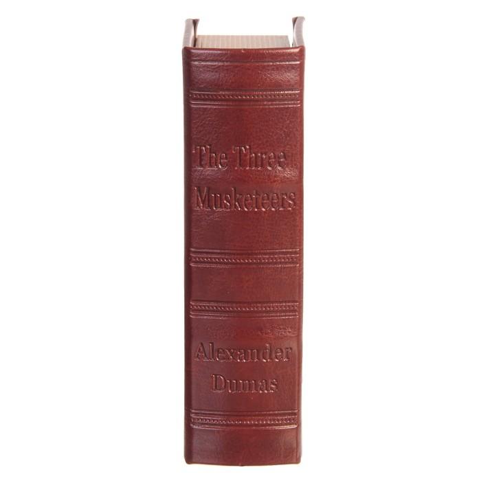 """Сейф-книга дерево """"Три мушкетёра"""" кожзам 17х11х5 см"""