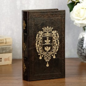 "Сейф-книга дерево ""Фамильный герб"" кожзам 21х13х5 см"
