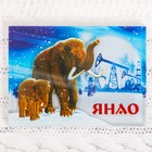 """Acrylic magnet """"YANAO"""" (Mammoths and oil rigs), 7.5 x 5.5 cm"""