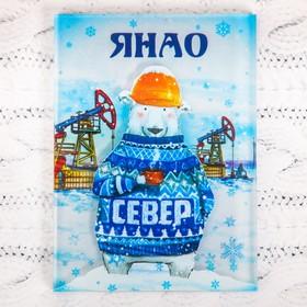 Магнит «ЯНАО. Северный медведь и нефтяные вышки» в Донецке