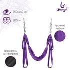 Гамак для йоги 250х140 см, цвет фиолетовый