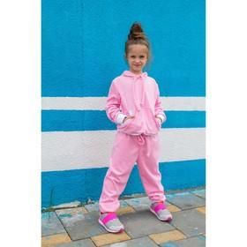 Спортивный костюм из велюра MINAKU, рост 110-116 см, цвет розовый