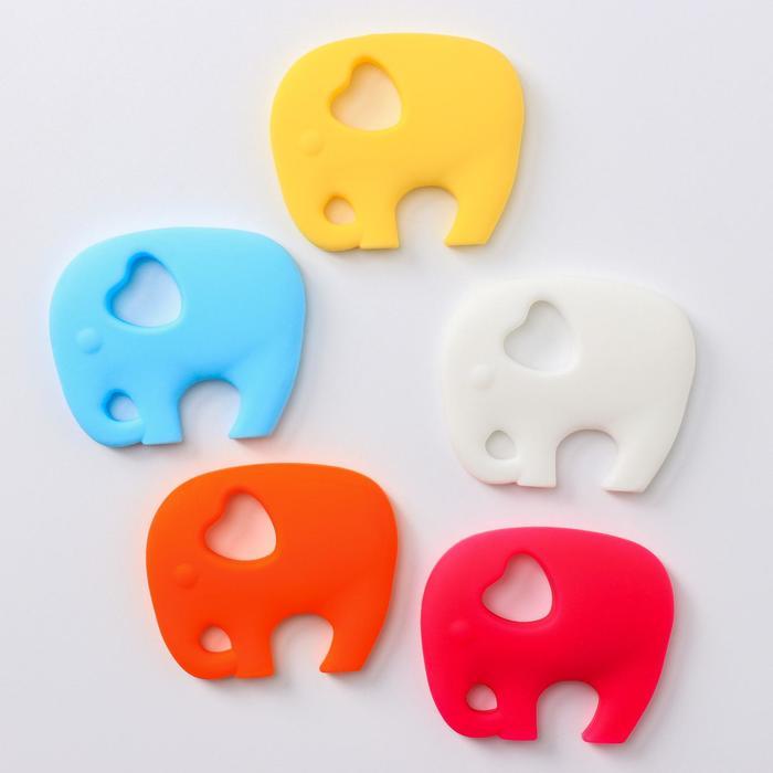 Прорезыватель силиконовый «Крошка слон», цвет МИКС - фото 76135045