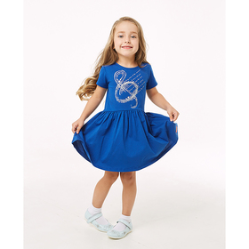 Платье для девочки, рост 146-152 см, цвет синий TD-01