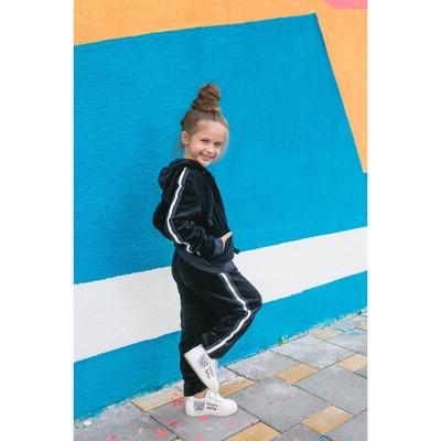 Спортивный костюм из велюра MINAKU, рост 134-140 см, цвет тёмно-синий