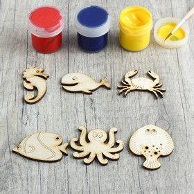 "A set of pieces for creativity ""Sea animal"", 6 PCs"