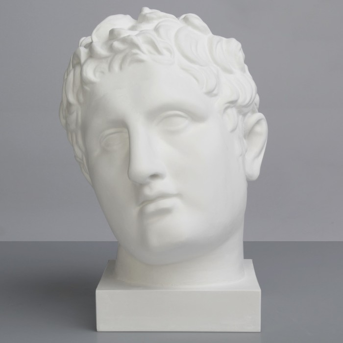 Гипсовая фигура, Голова Апоксиомена «Мастерская Экорше», 20.5х26х32 см
