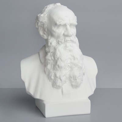 Гипсовая фигура, Известные люди: бюст Толстого «Мастерская Экорше», 16 х 9 х 23 см