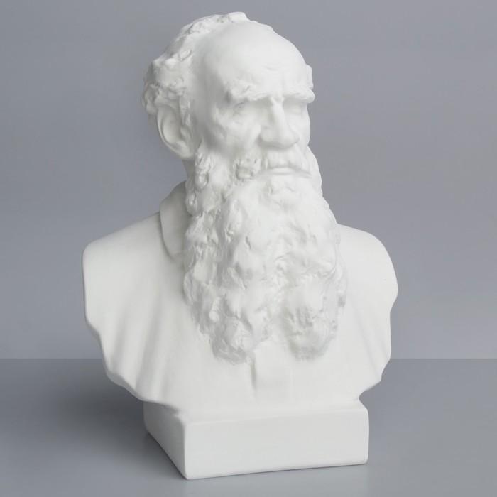 Гипсовая фигура, Извесные люди: Бюст Толстого «Мастерская Экорше», 16х9х23 см