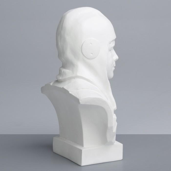 Гипсовая фигура. Известные люди: Бюст Гагарина «Мастерская Экорше», 16.5х10х25 см